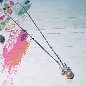 Czech Glass Glass Pearl Pendant Necklace